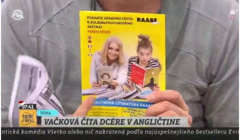 TV Markíza Teleráno – 13. 12. 2016: Zuzana Vačková číta dcére v angličtine