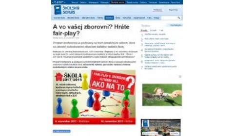 www.skolskyservis.sk – 31. 10. 2017: A vo vašej zborovni? Hráte fair-play?
