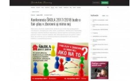 www.ucn.sk – 12. 10. 2017: Konferencia ŠKOLA 2017/2018 bude o fair-play v zborovni aj mimo nej
