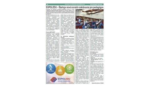 Učiteľské noviny 2/2017, strana 20: EXPOLEDU – Štartuje nové súvislé vzdelávanie pre pedagógov