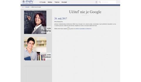 fnpv.sk – 26. 5. 2017: Učiteľ nie je Google 4