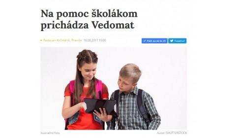 www.pravda.sk – 16. 8. 2017: Na pomoc školákom prichádza Vedomat