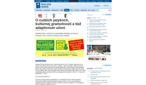 skolskyservis.sk – 26. 5. 2017: O cudzích jazykoch, kultúrnej gramotnosti a tiež adaptívnom učení