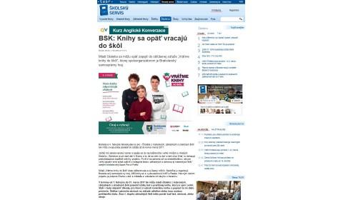 skolskyservis.sk – 4. 2. 2017: BSK: Knihy sa opäť vracajú do škôl
