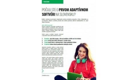 Učiteľské noviny – 11/2017, strana 5: POČULI STE O PRVOM ADAPTÍVNOM SOFTVÉRI NA SLOVENSKU?