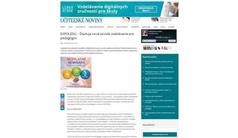 ucn.sk – 25. 2. 2017: EXPOLEDU – Štartuje nové súvislé vzdelávanie pre pedagógov