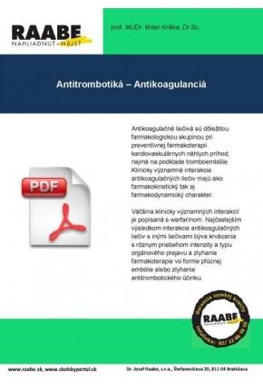 ANTITROMBOTIKÁ – ANTIKOAGULANCIA