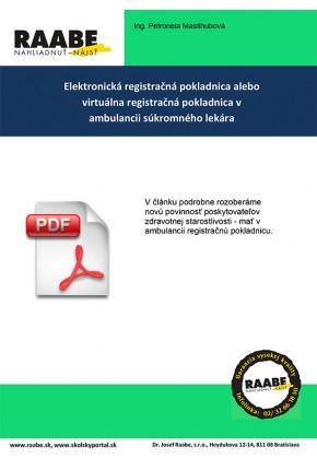 ELEKTRONICKÁ REGISTRAČNÁ POKLADNICA ALEBO VIRTUÁLNA REGISTRAČNÁ POKLADNICA V AMBULANCII SÚKROMNÉHO LEKÁRA